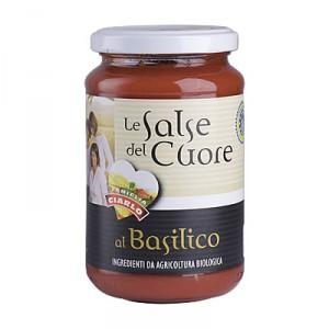 Salsa al basilico bio gr.340